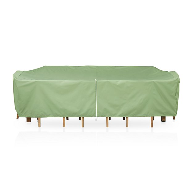 Large rectangular table and chair outdoor furniture cover for Patio furniture covers for square tables