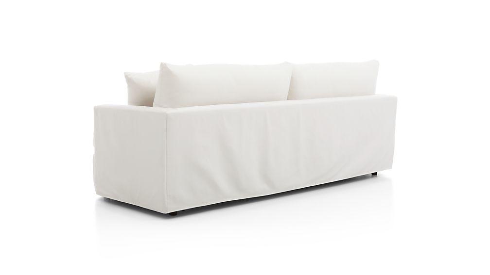 "Lounge II Petite Outdoor Slipcovered 93"" Sofa"