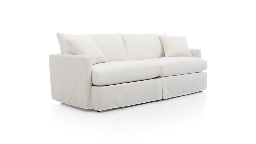 "Lounge II Petite Outdoor Slipcovered 93"" Sofa"
