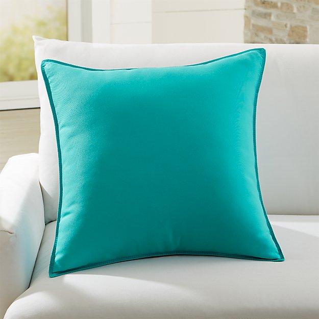 Sunbrella Canvas Aruba 20 Sq Outdoor Pillow Reviews Crate And