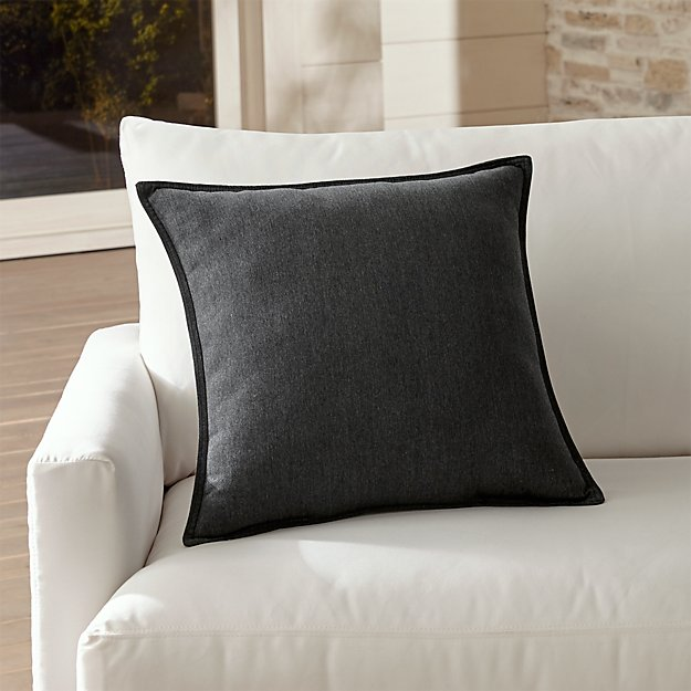 Sunbrella Charcoal Outdoor Pillow Reviews Crate And Barrel