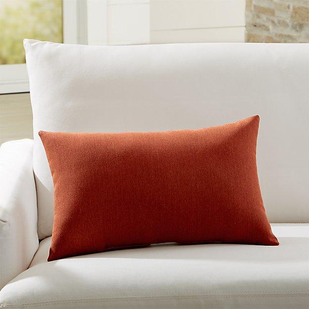 Sunbrella Canvas Brick Outdoor Lumbar Pillow Reviews