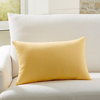 pillows buttercup canvas yellow barrel decorative and outdoor pillow lumbar crate decor sunbrella