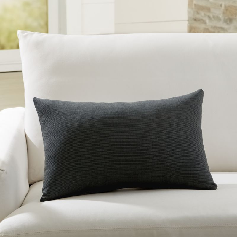 Sunbrella Canvas Coal Outdoor Lumbar Pillow Reviews