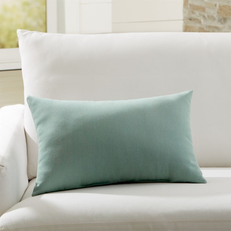 Sunbrella Canvas Spa Outdoor Lumbar Pillow