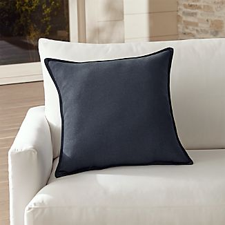 "Sunbrella ® Dark Navy 20"" Sq. Outdoor Pillow"