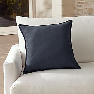 "Sunbrella ® Dark Navy 20"" Sq. Outdoor Pillow"