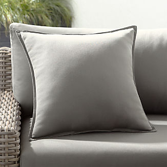"""Sunbrella ® Graphite 20"""" Sq. Outdoor Pillow"""