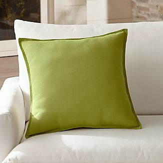 "Sunbrella ® Kiwi Green 20"" Sq. Outdoor Pillow"