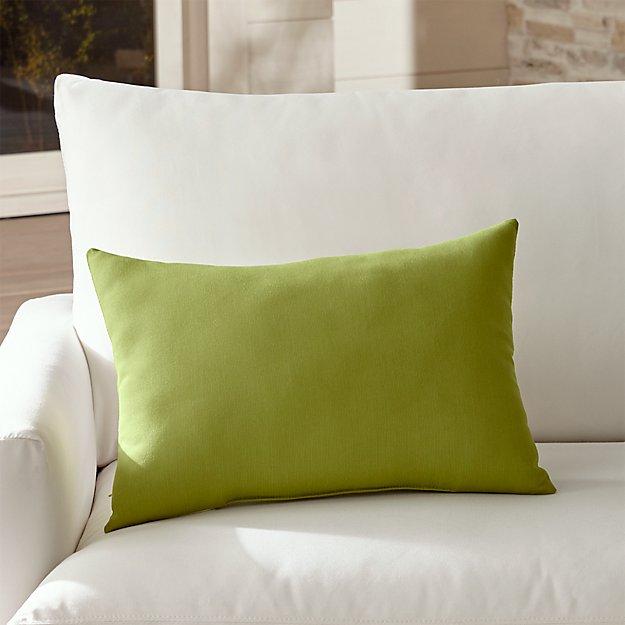 Sunbrella ® Kiwi Outdoor Lumbar Pillow