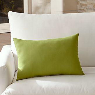 Sunbrella ® Kiwi Outdoor Lumbar Pillow