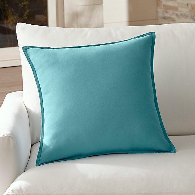 Sunbrella Light Blue Outdoor PillowCrate and Barrel