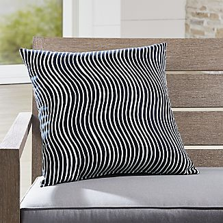 Blue Throw Pillows Crate and Barrel