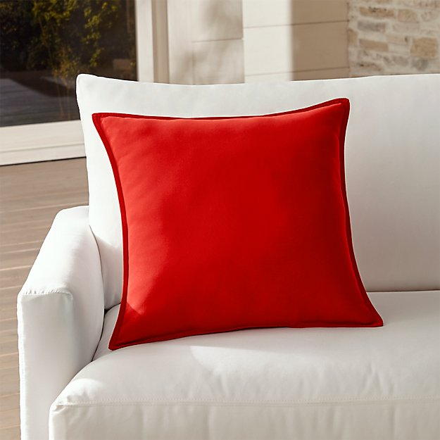 Sunbrella Red Outdoor Pillow Crate And Barrel