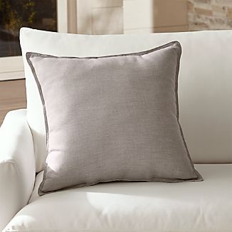 "Sunbrella ® Silver 20"" Sq. Outdoor Pillow."