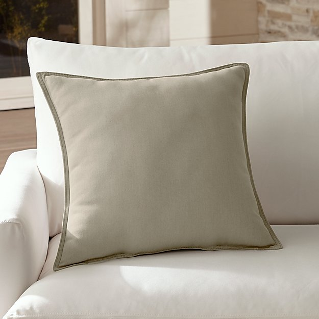 "Sunbrella ® Stone 20"" Sq. Outdoor Pillow"