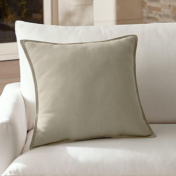 """Sunbrella ® Stone 20"""" Sq. Outdoor Pillow"""