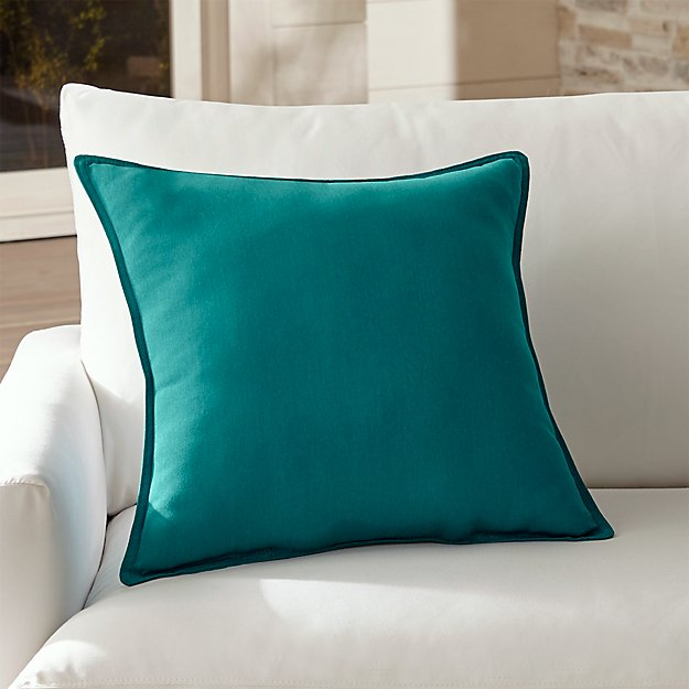 "Sunbrella ® Bold Turquoise 20"" Sq. Outdoor Pillow"