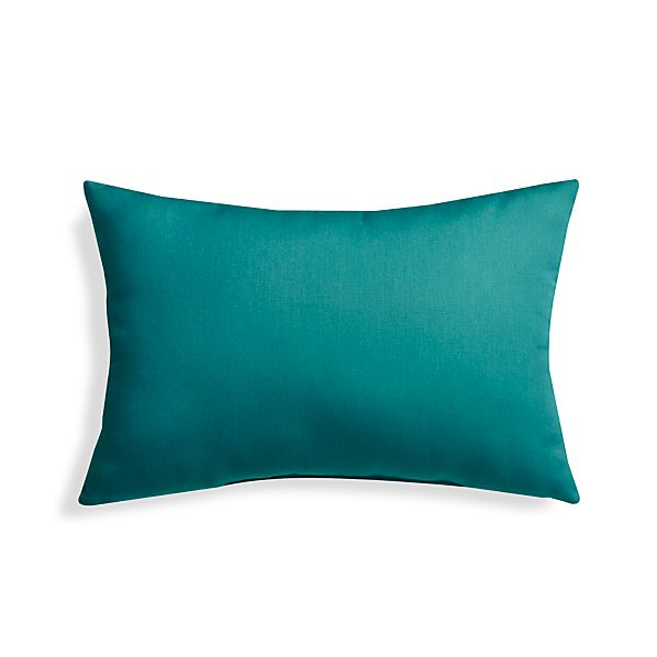 OutdoorPillowTurquoise20x13S17