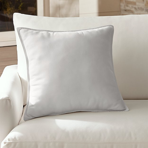 "Sunbrella ® White Sand 20"" Sq. Outdoor Pillow - Image 1 of 12"
