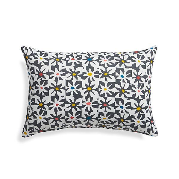"Floral Tiles 20""x13"" Outdoor Pillow"