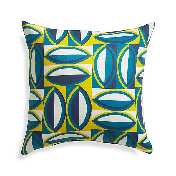 """Graphic Turkish Tile 20"""" Sq. Outdoor Pillow"""