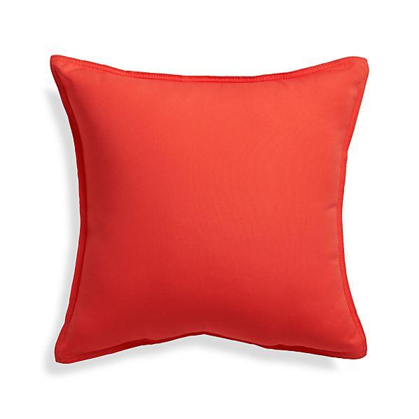 "Sunbrella ® Paprika 20"" Sq. Outdoor Pillow"