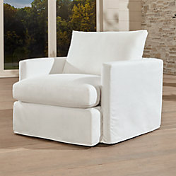 Lounge Ii Petite Outdoor Slipcovered 93 Quot Sofa Crate And