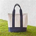 Outfitted Blue Canvas Picnic Tote