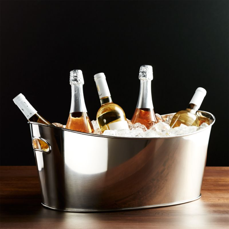 inch round beverage p double stainless x chef wall bon tub h wine