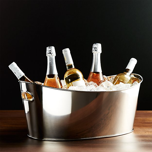 Wonderful Oval Party Ice Tub + Reviews | Crate and Barrel OM81