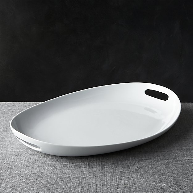 Oval Platter with Handles - Image 1 of 3