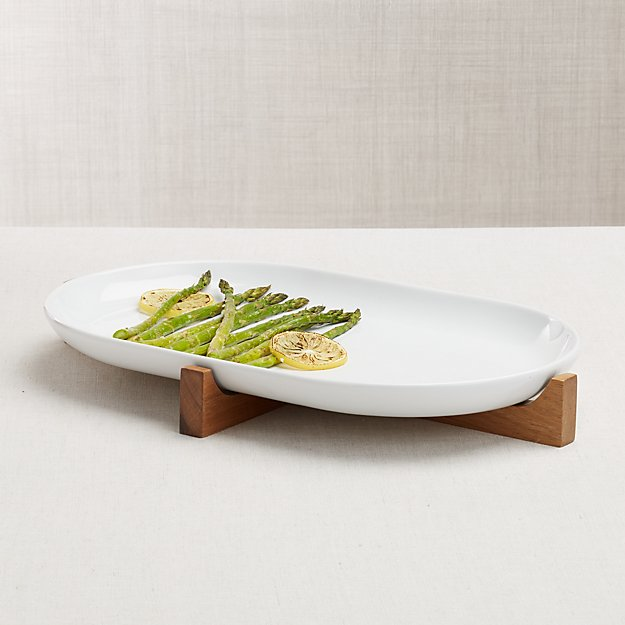 Oven-to-Table Oval Platter with Trivet - Image 1 of 7