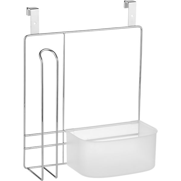 Over the Cabinet Caddy with Paper Towel Holder