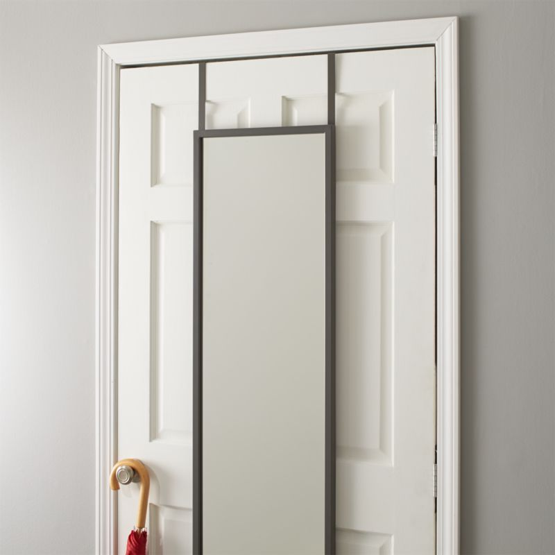 Over the Door Mirror Crate and Barrel : OverDoorMirrorMetalCSF14 from www.crateandbarrel.com size 800 x 800 jpeg 32kB