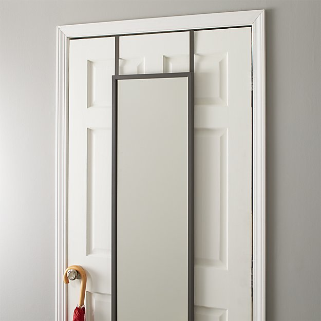 over the door mirror Over the Door Mirror + Reviews | Crate and Barrel over the door mirror