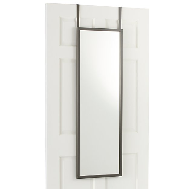 over the door mirror in mirrors reviews crate and barrel. Black Bedroom Furniture Sets. Home Design Ideas