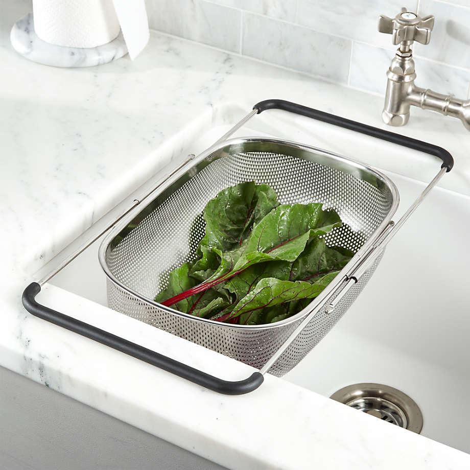 Over The Sink Mesh Colander Reviews Crate And Barrel