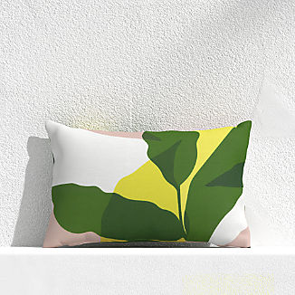 "Overlapping Leaf Cactus 20""x13"" Outdoor Pillow"