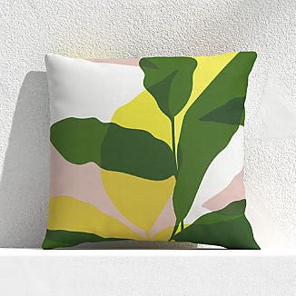 "Overlapping Leaf Cactus 20"" Outdoor Pillow"