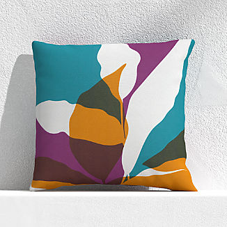 "Overlapping Leaf Willowherb 20"" Outdoor Pillow"