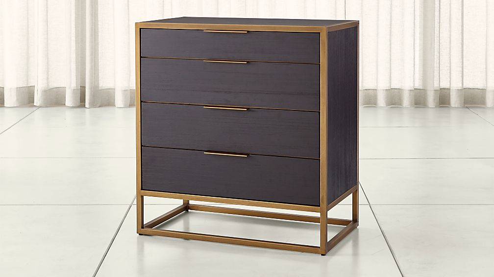 Oxford Black 4 Drawer Chest Reviews Crate And Barrel