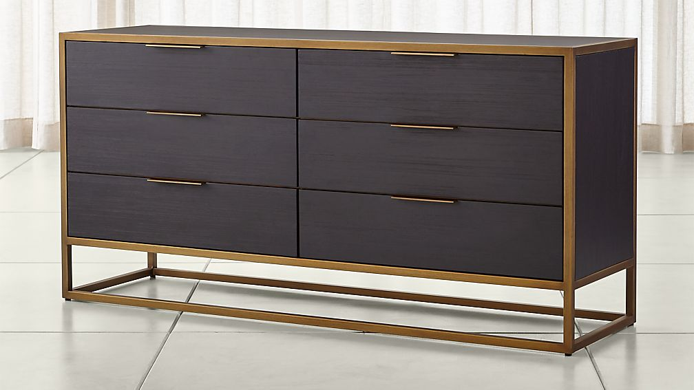 Oxford Black 6 Drawer Dresser In Dressers Amp Chests