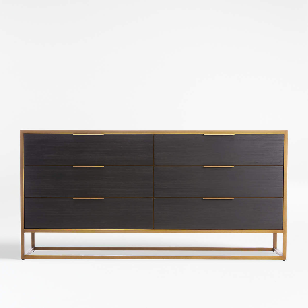 Picture of: Oxford Black 6 Drawer Dresser Reviews Crate And Barrel