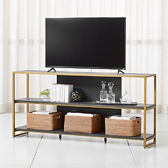 Oxford 80 Black Wood Media Console