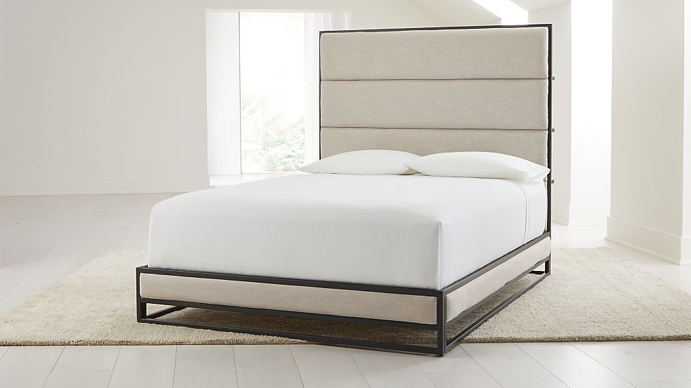 Oxford Ivory Upholstered Queen Bed - Image 1 of 8