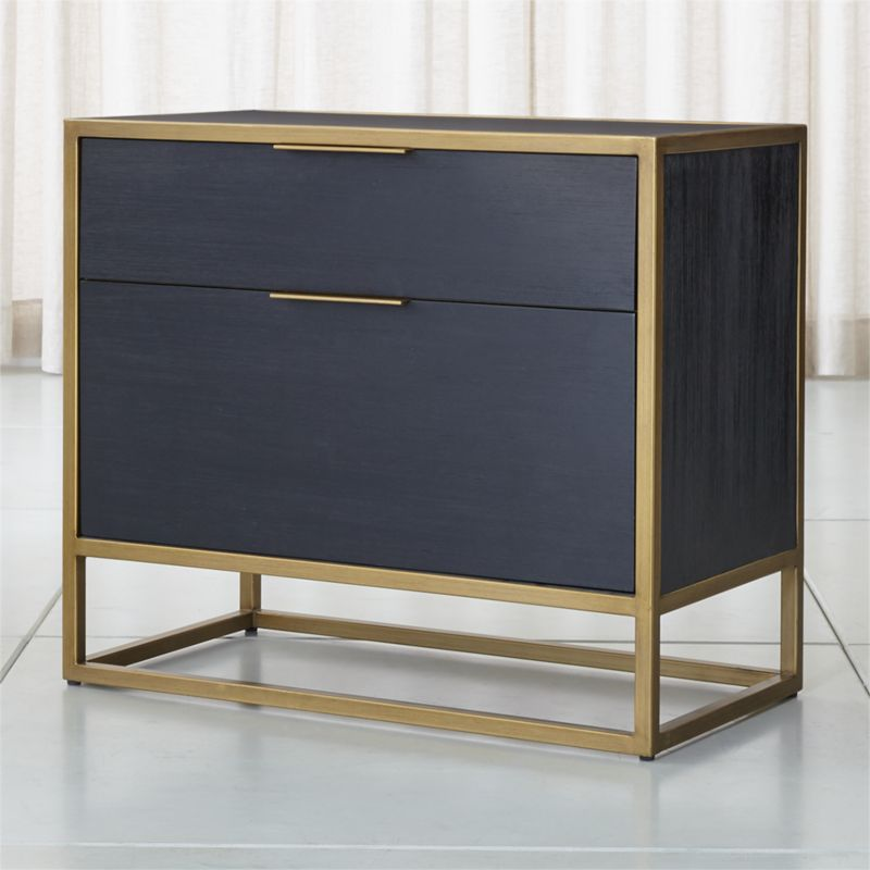 Oxford Black Lateral File Cabinet Crate And Barrel