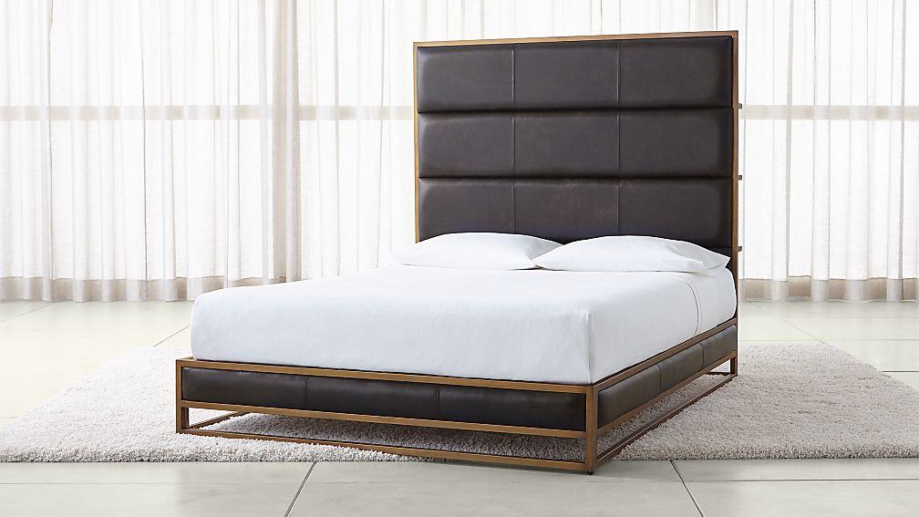 Oxford Leather Bed - Image 1 of 7