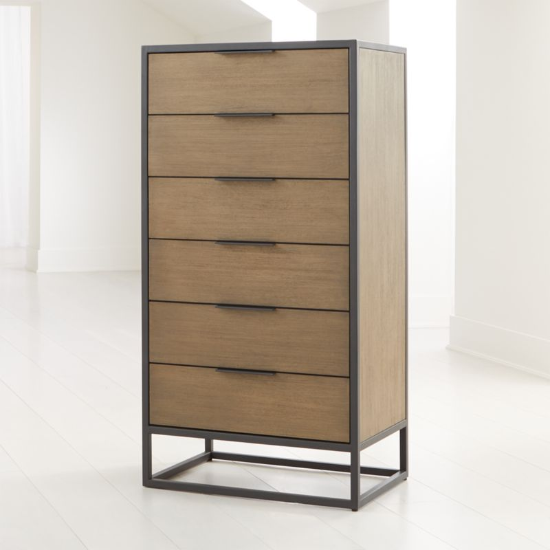 Oxford Shale 6 Drawer Tall Chest by Crate&Barrel