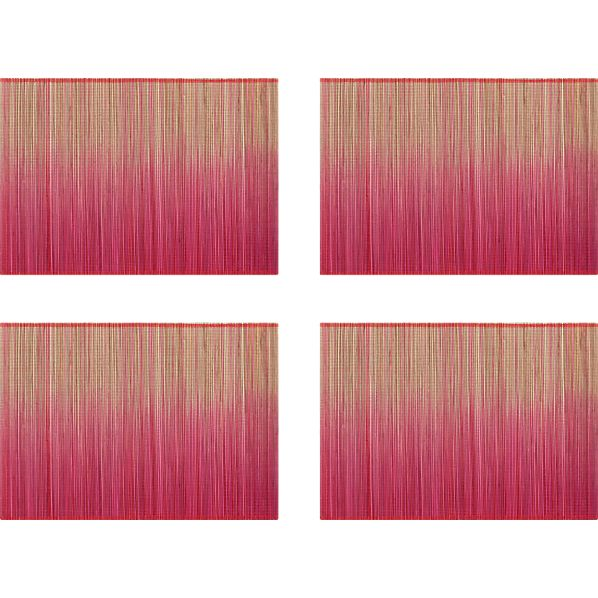 Set of 4 Oxley Pink Placemats